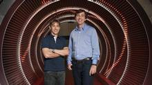 Zynga's founding CEO Mark Pincus, left, and new CEO Don Mattrick. (ZYNGA)