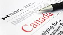 Appication form from Citizenship and Immigration Canada. (Globe files/Globe files)