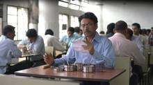 In The Lunchbox, the story begins when Saajan (Irrfan Khan) receives another man's meal – and marital correspondence – by mistake. (Michael Simmonds/Sony Pictures Classics)