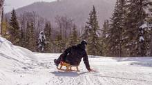 The sledding run at Le Massif is 7.5 kilometres long. (A. Blanchette/Le Massif de Charlevoix)