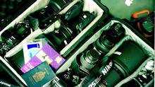 A look inside one of Kevin's carry-on bags. (Kevin Van Paassen/The Globe and Mail)