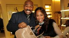 Comedian Steve Harvey and Marjorie Harvey attend the Steve and Marjorie Harvey foundation benefit at the Valentino Boutique on November 29, 2010 in Atlanta, Georgia. (Rick Diamond/Getty Images)