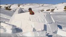 A scene from How to Build an Igloo, an anthropological documentary made by the NFB in 1949.