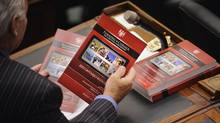RIM's PlayBook adorned the cover of the 2011 Ontario Budget document. (Fred Lum/The Globe and Mail)