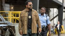 Ride Along 2 has Kevin Hart's yappy rookie policeman accompanying rapper-actor Ice Cube's straight-man detective, left, on a vice case to Miami. (Quantrell D. Colbe)