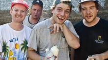 Salad Days, the new album from Montreal-based Mac DeMarco (second from right) comes out on April 1. (Robert Redfield)