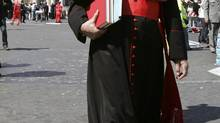 Cardinal Keith O'Brien walks in front of Saint Peter's Square in Rome in this April 6, 2005 file photo. (MAX ROSSI/REUTERS)