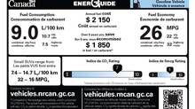 This is one option proposed for new fuel consumption rating labels. (Government of Canada)