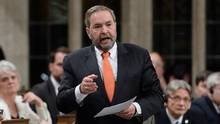 NDP Leader Thomas Mulcair speaks question during question period in the House of Commons on Feb. 16. (Sean Kilpatrick/THE CANADIAN PRESS)