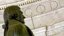 "The word ""God"" is seen on the wall of the Thomas Jefferson Memorial in October 2004 in Washington, D.C. (Alex Wong/Alex Wong/Getty Images)"