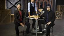 From left, restaurateurs Claudio Aprile, Michael Bonacini and Alvin Leung. (THE CANADIAN PRESS)