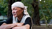 Masaharu, a homeless man living in Tokyo's Ueno Park, says: 'I'll be here until I die.' (Kayo Yamawaki/Kayo Yamawaki for The Globe and Mail)