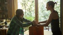 Nell (Ellen Page), left, and Eva (Evan Rachel Wood) are victims of increasingly desperate circumstances in Into the Forest. (Courtesy of Elevation Pictures)