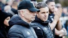 Toronto Wolfpack head coach Paul Rowley, right, is seen in this undated handout photo.