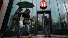 Despite optimism about Lululemon's results, major investors won't jump in until the retailer names a new leader, analysts say. (LUCAS JACKSON/REUTERS)