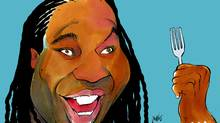Georges Laraque on obesity (Anthony Jenkins/The Globe and Mail)