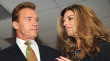 "(FILES) In this filed photo dated October 2, 2009 shows former California Governor Arnold Schwarzenegger and his wife Maria Shriver during a photo call at the Governors' Global Climate Summit in Los Angeles. Movie megastar and former US governor Arnold Schwarzenegger said Tuesday his wife Maria Shriver separated from him after he admitted to fathering a child with a member of the household staff. ""After leaving the governor's office I told my wife about this event, which occurred over a decade ago,"" Schwarzenegger, 63, said in the statement to the Los Angeles Times. ""I understand and deserve the feelings of anger and disappointment among my friends and family. There are no excuses and I take full responsibility for the hurt I have caused. (MARK RALSTON/AFP/Getty Images)"