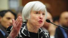 Federal Reserve chair Janet Yellen testifies before a House financial services committee hearing. (MARY F. CALVERT/REUTERS)