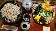 Soba noodles with all the fixin's in Kyoto, Japan. (Chris Nuttall-Smith/The Globe and Mail)