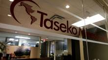 The offices of Taseko Mines Ltd. in Vancouver. (DARRYL DYCK/Darryl Dyck/The Canadian Press)