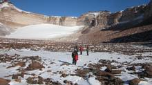 Jacqueline Goordial and her colleagues discovered a near-total absence of microbes in University Valley in Antarctica. (Jacqueline Goordial)