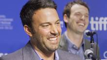 Actor and director Ben Affleck attends a news conference to promote the film 'Argo' during the 37th Toronto International Film Festival, September 8, 2012. (Reuters)