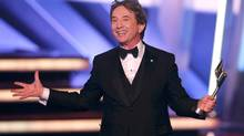 Veteran comedic actor Martin Short speaks after receiving a lifetime achievement award at the 2016 Canadian Screen Awards in Toronto, Ontario March 13, 2016. (Mark Blinch/Reuters)