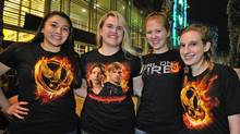 Hunger Game fans line up to see the midnight shows in Hurst, Texas, March 22, 2012. (Max Faulkner/Max Faulkner / AP)