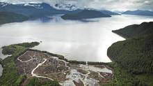 Workers clear the land at the Kitimat LNG site on the Douglas Channel, which leads to the Pacific Ocean. (John Lehmann/The Globe and Mail/John Lehmann/The Globe and Mail)