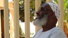 Abousfian Abdelrazik on the grounds of the Canadian Embassy in Khartoum, which has been his home for the past two years.