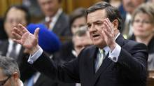 Canada's Finance Minister Jim Flaherty debates his budget in the House of Commons on Parliament Hill in Ottawa March 29, 2012. (CHRIS WATTIE/REUTERS)