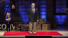 Romeo Dallaire speaking at a TEDx event in Vancouver in 2011. (TED)