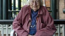 Jane Jacobs photographed on the porch of her home in Toronto. May 10, 2004. (Fred Lum/The Globe and Mail)