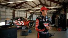 Ron Fellows in the garage with his NASCAR Sprint Cup car. (Canadian Tire)