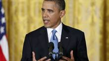 U.S. President Barack Obama addresses a news conference at the White House in Washington, Jan. 14, 2013. (JONATHAN ERNST/REUTERS)
