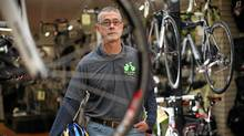 Doug Grams at Fort Street Cycle. (Chad Hipolito/Chad Hipolito For The Globe and Mail)