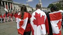 How others see us: Canada Day in London's Trafalgar Square. (LEFTERIS PITARAKIS/AP)