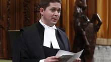 House of Commons Speaker Andrew Scheer speaks in the House of Commons on Parliament Hill in Ottawa December 15, 2011. (CHRIS WATTIE/REUTERS)