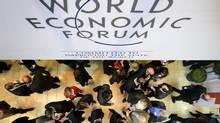 World leaders including France's Francois Hollande, Germany's Angela Merkel and China's Li Keqiang will gather at the annual Davos forum running from January 21 until January 24, 2015. (FABRICE COFFRINI/AFP/Getty Images)