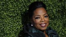 Oprah Winfrey earlier this year in Pasadena, Calif., at the press tour for her new network. (AP)