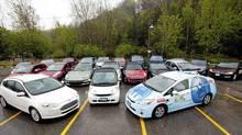 The cars line up for AJAC's Eco-Run. (Michelle Siu/AJAC)