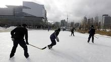 The Sherbourne Commons rink at Sherbourne and Lakeshore is not one of the rinks being saved from closing. (Deborah Baic/The Globe and Mail)