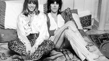 Anita Pallenberg seen in 1969 with boyfriend and Rolling Stone guitarist Keith Richards. Ms. Pallenberg's fame was derived mostly from her personal relationships with members of the band. (McCarthy/Globe and Mail Update)