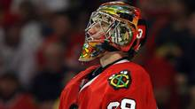 Cristobal Huet is expected to be back in goal tonight as the Chicago Blackhawks try to force a sixth game in the NHL Western Conference final. (Jonathan Daniel/Jonathan Daniel/Getty Images)