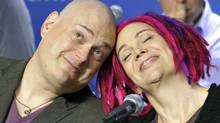 "Directors Andy (L) and Lana Wachowski attend a news conference for their film ""Cloud Atlas"" at the 37th Toronto International Film Festival September 9, 2012. (Reuters)"