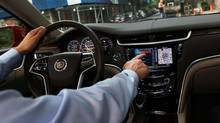 """Cue, which stands for Cadillac User Experience, is simple to operate, once you take a few minutes to dial in the """"customizable user interfaces. Jeremy Cato found. (General Motors)"""