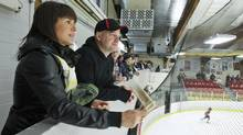 The hockey-parent constituency, voters such as Marie-Chantal Morissette and Charles Vigneault, were instrumental in electing the Tories in Beauport-Limoilou in the last election. (Francis Vachon for The Globe and Mail/Francis Vachon for The Globe and Mail)