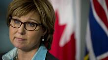 B.C. Premier Christy Clark during a news conference in Vancouver on Sept. 24, 2012, following the resignation of her chief of staff. (John Lehmann/The Globe and Mail)