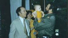 Cuban President Fidel Castro holds baby Michel as Pierre and Margaret Trudeau look on during their state visit to Cuba in this Jan., 1976, photo. (CP)