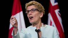 Kathleen Wynne says the Ontario government may drop its proposed provincial pension plan if the federal Liberals win the election. (KEVIN VAN PAASSEN FOR THE GLOBE AND MAIL)